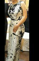 Красивое вечернее платье с пайетками
