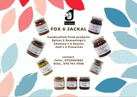 Fox and Jackal,Handcrafted ,small batch food products, spices & sauces