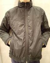 Куртка-ветровка на флисе OUTVENTURE р.140 с капюшоном, черная