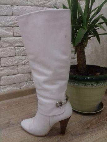 Продам белые сапоги Чернигов - изображение 2