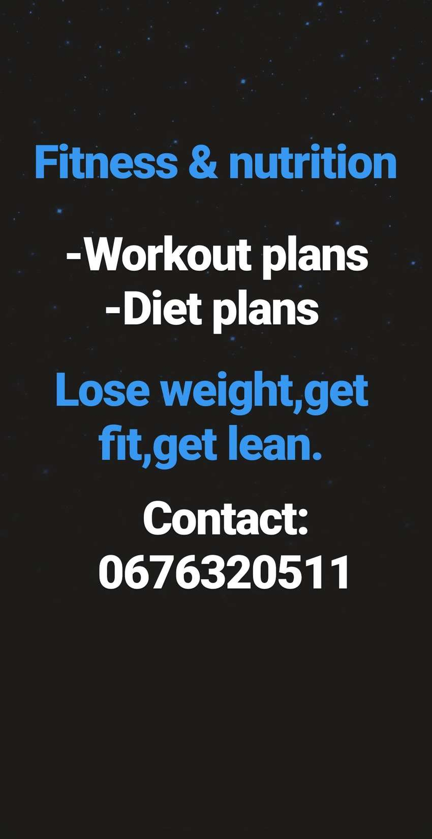 Fitness and nutrtion 0