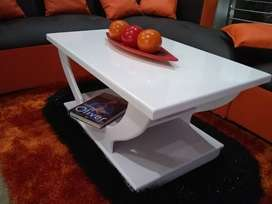 New white modern coffee table