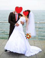 Шикарное свадебное платье, модель рыбка, не венчанное, б.у.
