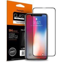 Защитное стекло Spigen Glastr Slim TG CF Full Cover iPhone XS/X -Black