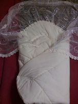Одеяло-конверт для новорожденный, на выписку.