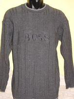 Sweter BOSS szary gruby rozmiar XL