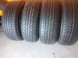 A set of Toyota 4x4 tyres sizes 265/60/18 Dunlop now available