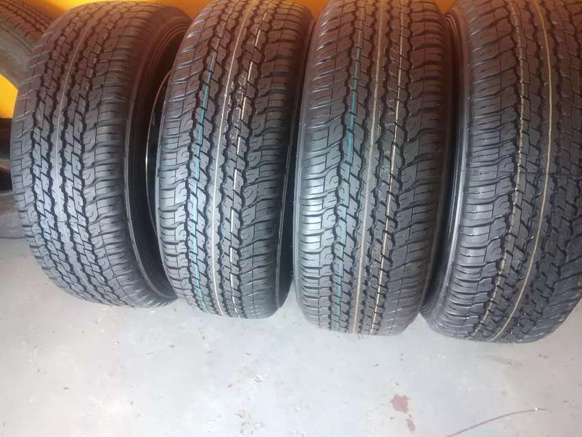 A set of Toyota 4x4 tyres sizes 265/60/18 Dunlop now available 0