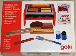 Grill drewniany barbecue + 26 akcesorii GOKI 3+