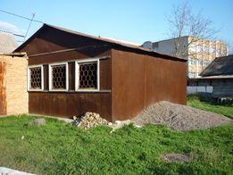 железный гараж,павильон ,складское помещение , ширина 6м длина 6,3м,