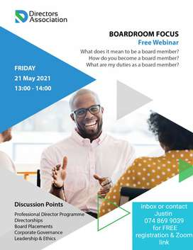 FREE webinar: How to become a board member