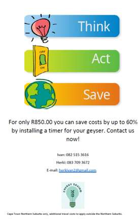 Geyser Timers - Save electricity now!
