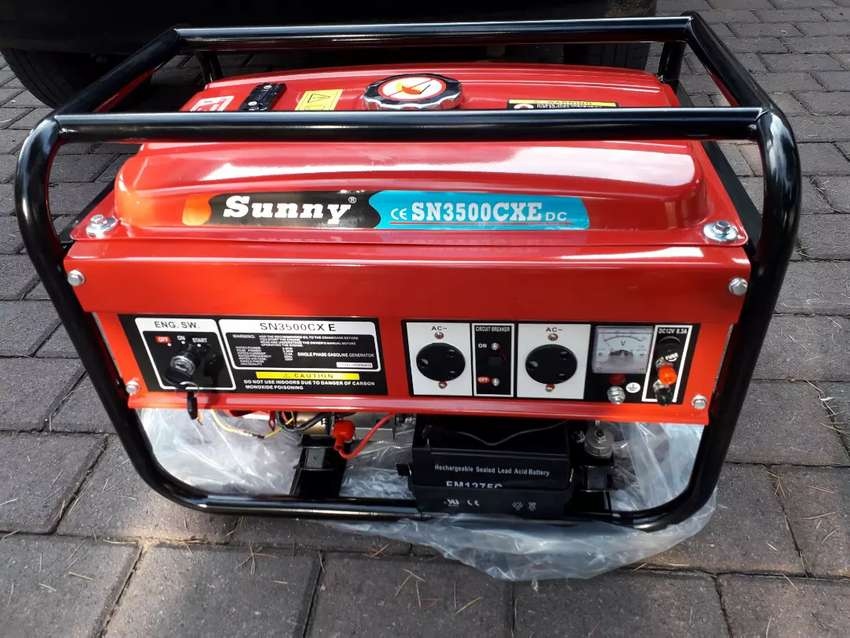 Sunny 3.5kw Key Start generator with a warranty on Special for R4800 0