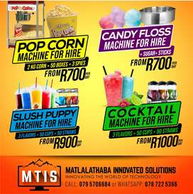 Slush/Cocktail And Popcorn Machine For or Hire