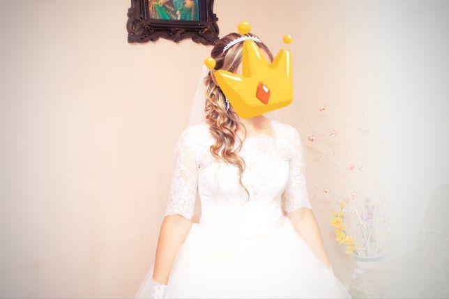 Весільне плаття ,гарне, стильне шампань не дорого ідеальний стан Тернополь - изображение 4
