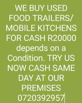 We Buy Food Trailers/Mobile KITCHENS