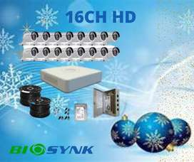 CCTV SYSTEM HD 1MP 16 CHANNEL