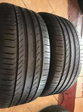 2 × 245 / 40 / 18 runflat continental tyres for sale
