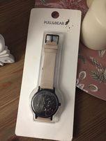 Nowy zegarek czarny beżowy marmur tarcza PULL&BEAR