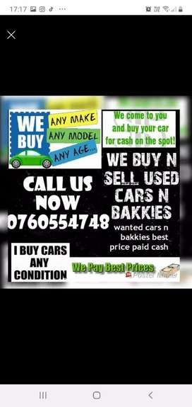 Looking for cars n bakkies.we come to you