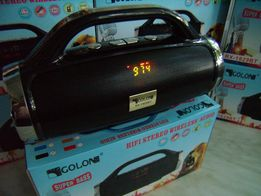 Блютуз бумбокс GOLON-1829i с МР3(microSD,USB),FM,LED дисплей, 20 ватт