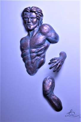 Original 5D Sculpture on Canvas - Emergence