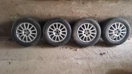 """Mag wheels 15"""" 5 holes from Jetta4(not sure of pcd)"""