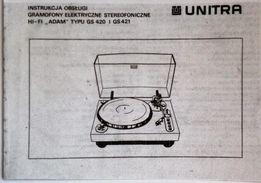 instrukcja gramofonu Adam Hi-Fi