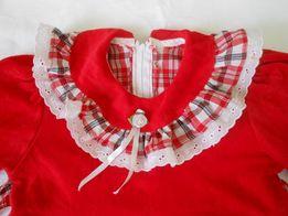 Платье велюр на 5-6 лет
