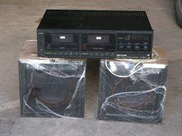 Маяк 202 двухкассетник с колонками б/у