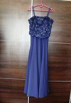 Długa suknia xs/s regulowany gorset