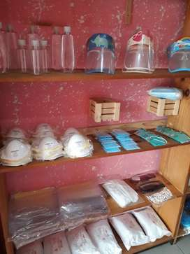 Mask, gloves , face shields , sanitizers , gowns etc