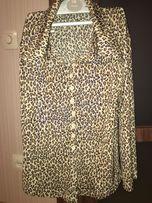 женская рубашка ( блузка) с леопардовым принтом