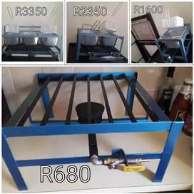 Gas Stove Table Model R680; Gas Deep Fryer from R1600