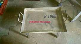 4 mm thk Stainless steel braai pan