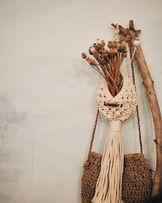 Кашпо подвесное макраме свадебный декор