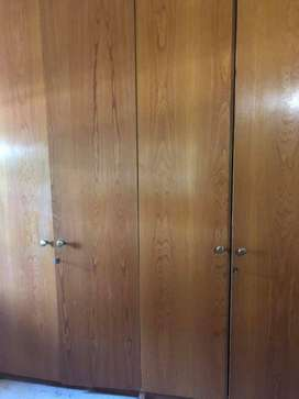 Second hand fitted cupboard - wood veneer