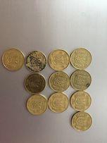 Монеты достоинством 25 копеек