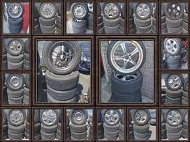 Original used mag rims and tyres for sale.
