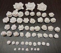 Розы. Гипсовые цветные розочки или 3D раскраска