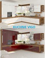 Meble,Szafki kuchenne, kuchnia Vigo Biała,Bordo.Połysk.Duży Wybór