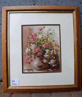 Mia Venter Painting of Flowers