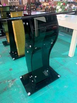 Custom Black Curvy Pulpit