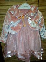 Новое нарядное платье 2 года с биркой