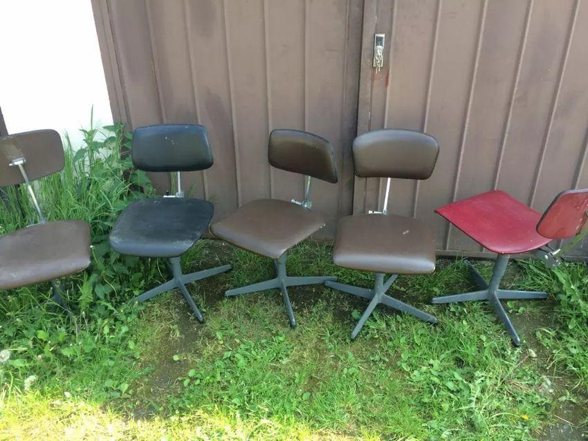 Židle industriální 5 ks 0