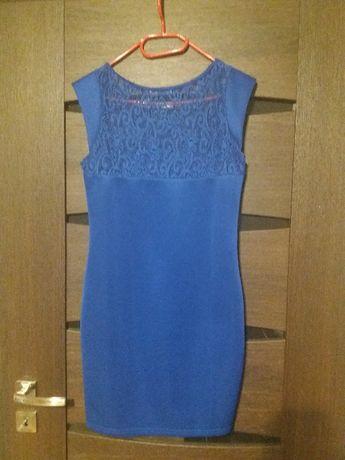 Niebieska (chabrowa) sukienka Koźmin Wielkopolski - image 2
