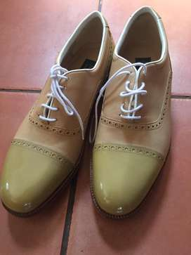 Brand new Nebuloni hand made itlalian leather golf shoes for sale