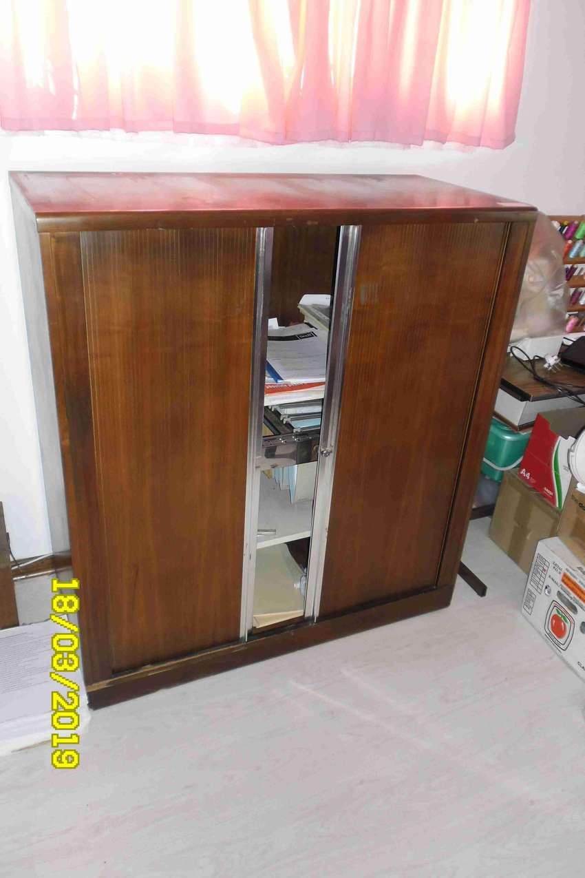Wooden filing cabinet 0
