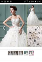 Свадебное платье со шлейфом и камнями сваровски