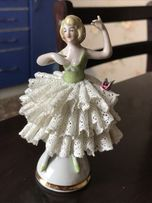 Фарфоровая кружевная статуэтка балерина